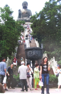 Steps leading to the Buddha, Ngong Ping Plateau