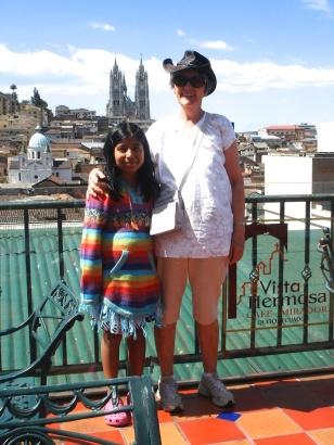 Samanta with me, Quito