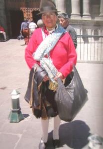 Street trader, Quito