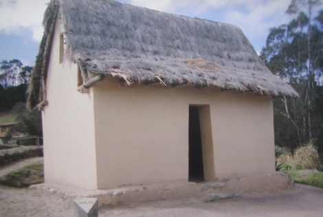 Replica of an Inca house