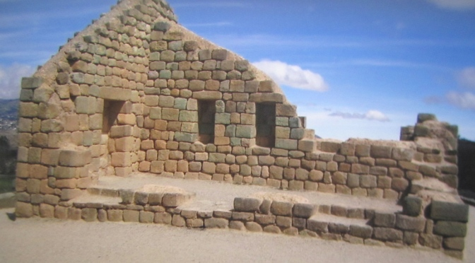 A ruined meal after Inca ruins