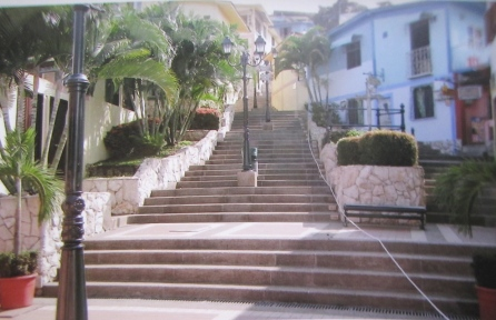 Steps leading to the top of Las Penas, Guayaquil