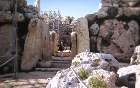 The entrance to Ggantija Ruins, Xaghra, Gozo