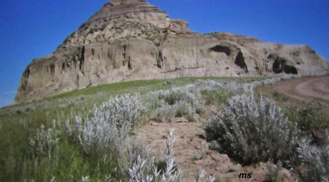 A lone hill – Castle Butte
