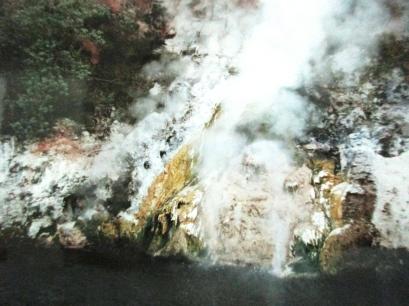 Geyser, Lake Rotomakariri, Waimangu