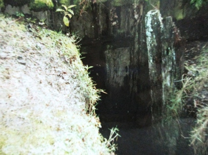 Whare back door escape if attacked by a waring tribe, Buried Village, Rotorua