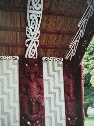 Inside the Maori meetinghouse, Waitangi