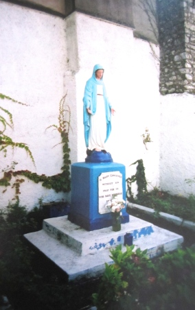Statue of Mary near the Red Abbey, Cork