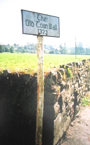 Old town wall on the edge of Thomastown