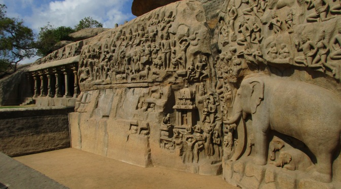 Mamallapuram's main heritage site
