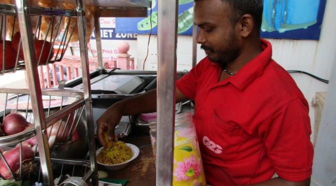 Chennai alleyway street food