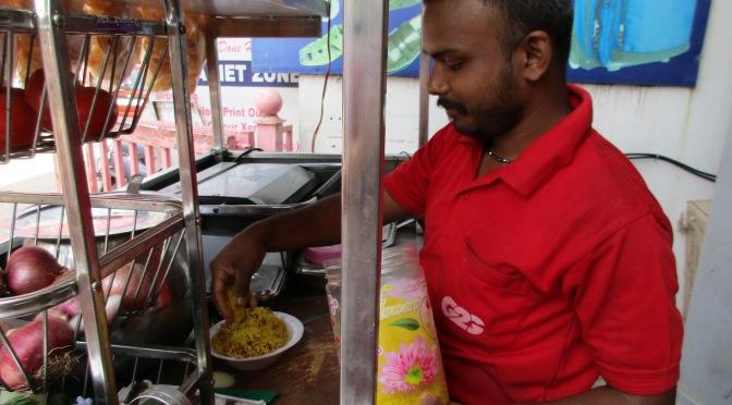 Chennai alleyway street food