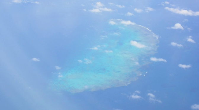 Alone over the Great Barrier Reef