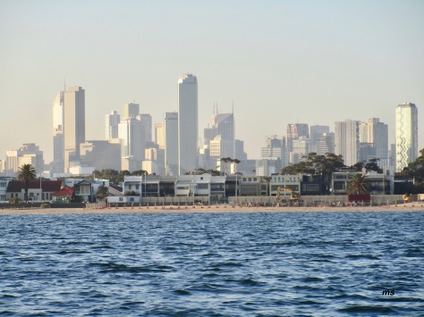 Melbourne city from Port Phillip Bay