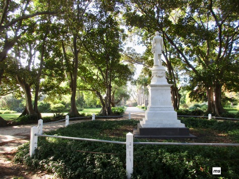 Clark's statue, Williamstown Botanic Gardens