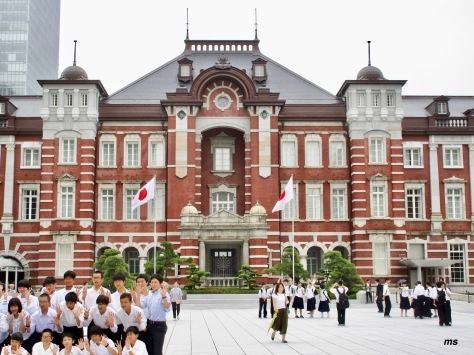 Tokyo Station Hotel and students