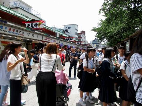 Lines of shops towards Senso-ji Temple