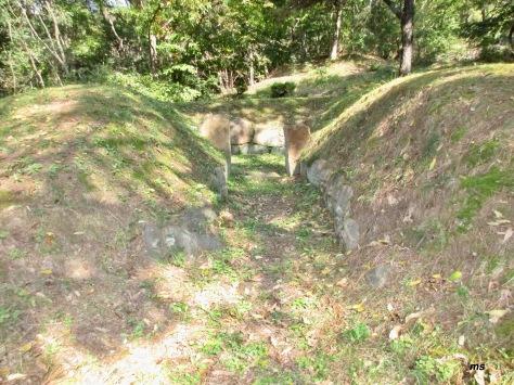 Plundered tomb near General Kim Yu-sin, Gyeongju