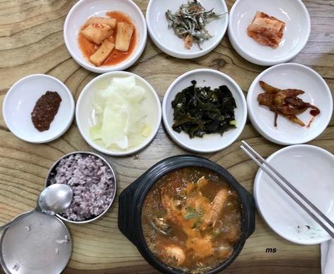 Abalone stew in a hot pot, Seogwipo