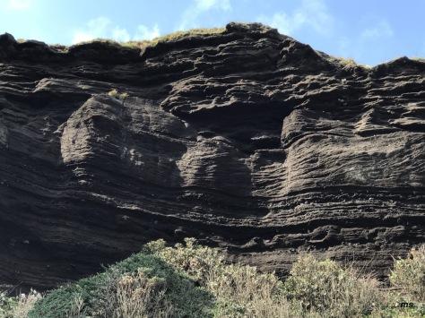 Lava cliffs by Seongsan Ilchulbong Peak