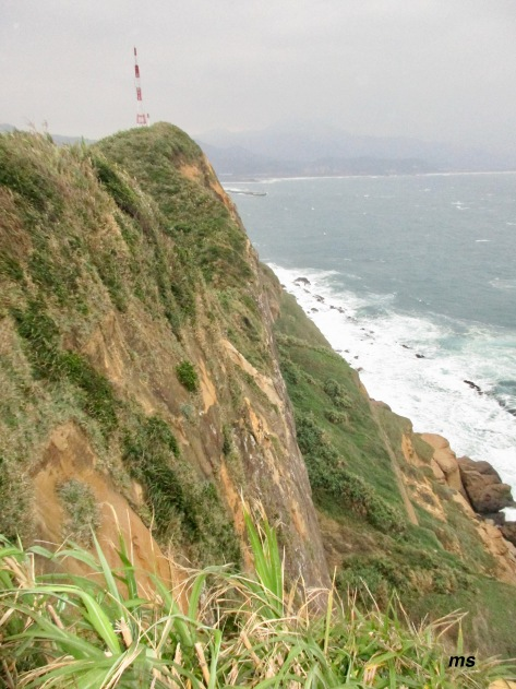 Lighthouse from Filial-piety Hill, Yehliu Geopark