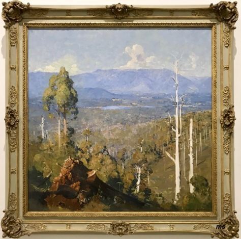 Arthur Streeton — The vanishing forest (how relevant this title is today)
