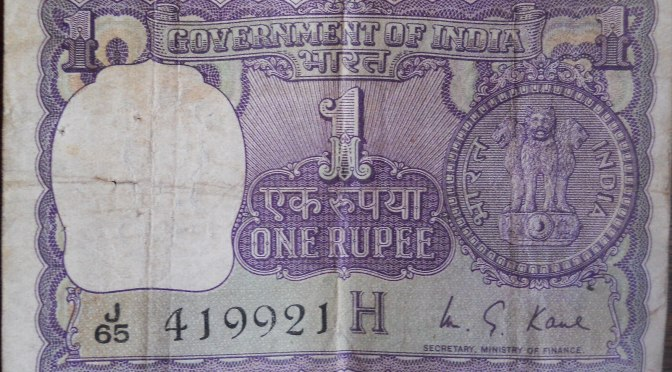 a rip in a rupee
